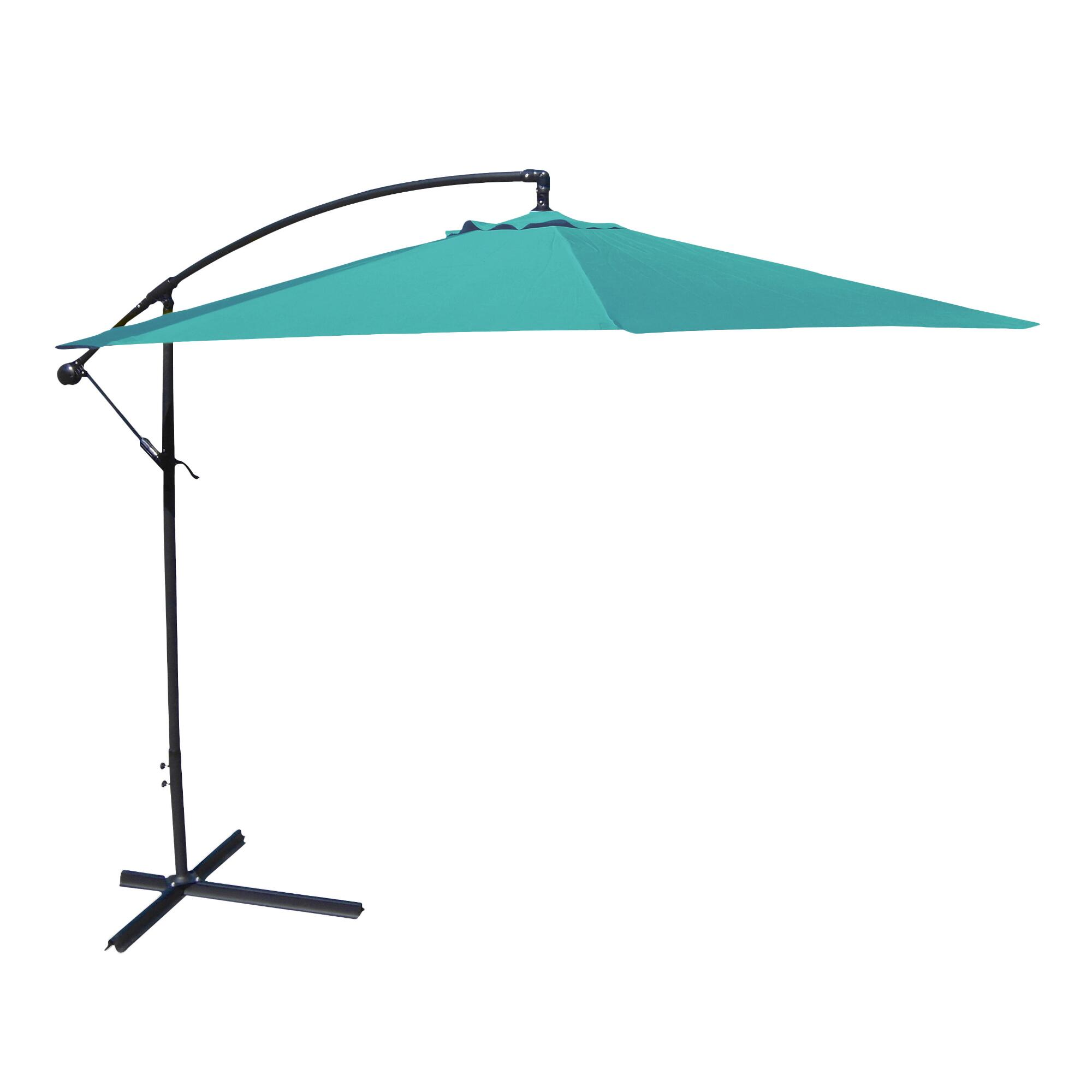 Aruba Turquoise 10 Ft Cantilever Outdoor Patio Umbrella: Blue - Fabric by World Market