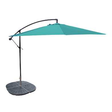 Aruba Turquoise Cantilever Outdoor Umbrella Collection