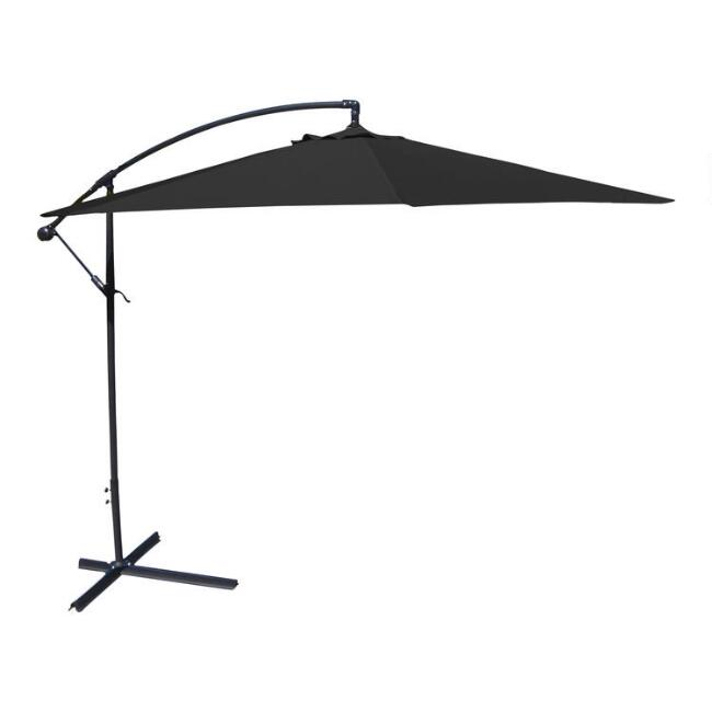 Black Cantilever Outdoor Umbrella