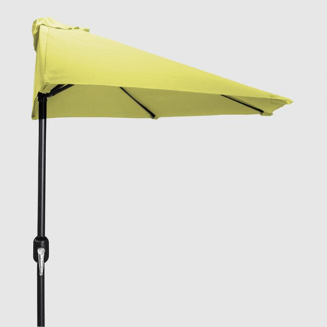 Yellow Outdoor Half Umbrella
