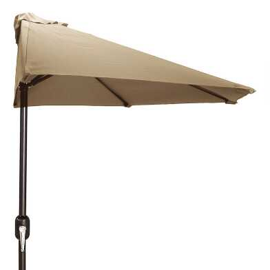 Khaki Patio Half Umbrella