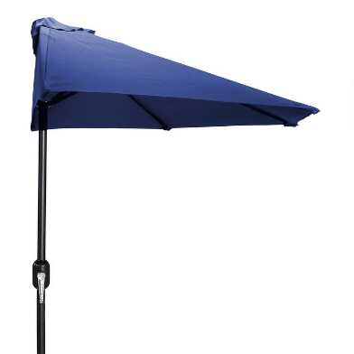 Navy Blue Outdoor Half Umbrella
