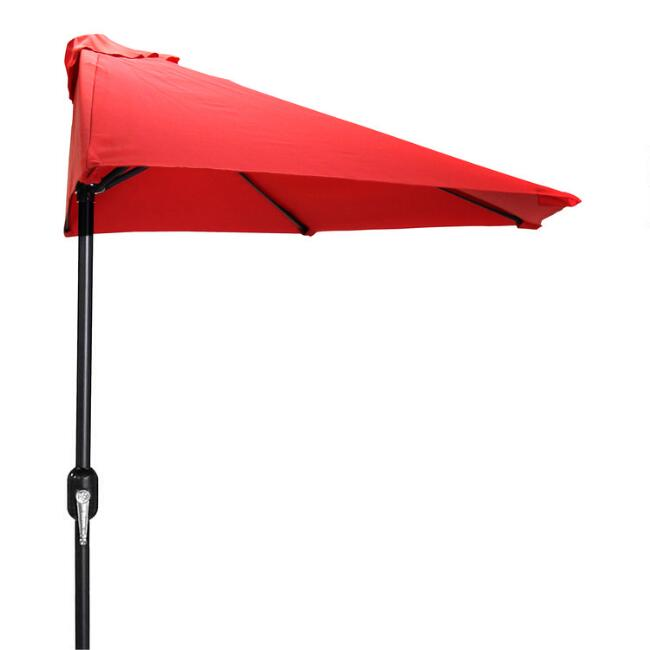 Red Outdoor Half Umbrella