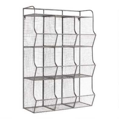 Metal 9-Cubby Thomas Wall Storage