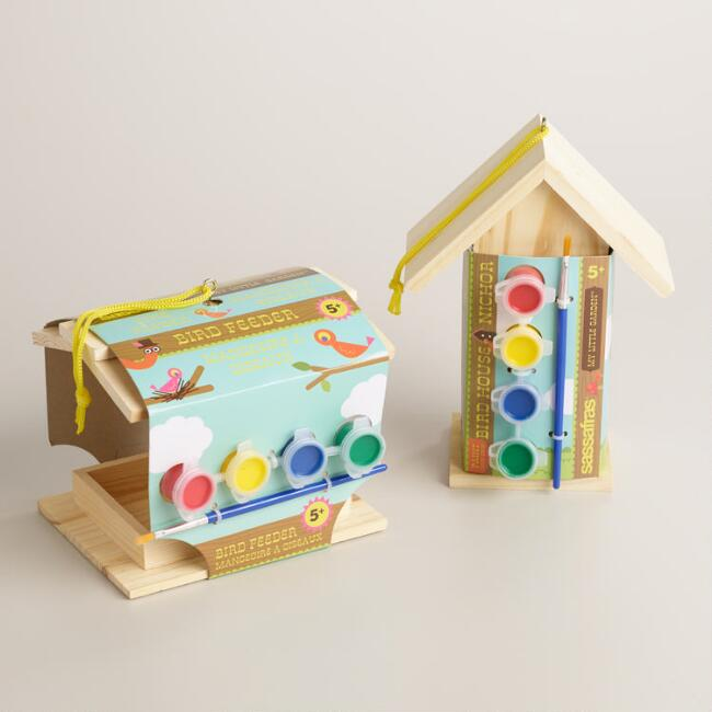 Paint Your Own Birdhouse, Set of 2