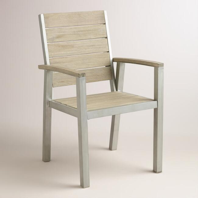 Wood and Metal Pelagia Dining Armchair