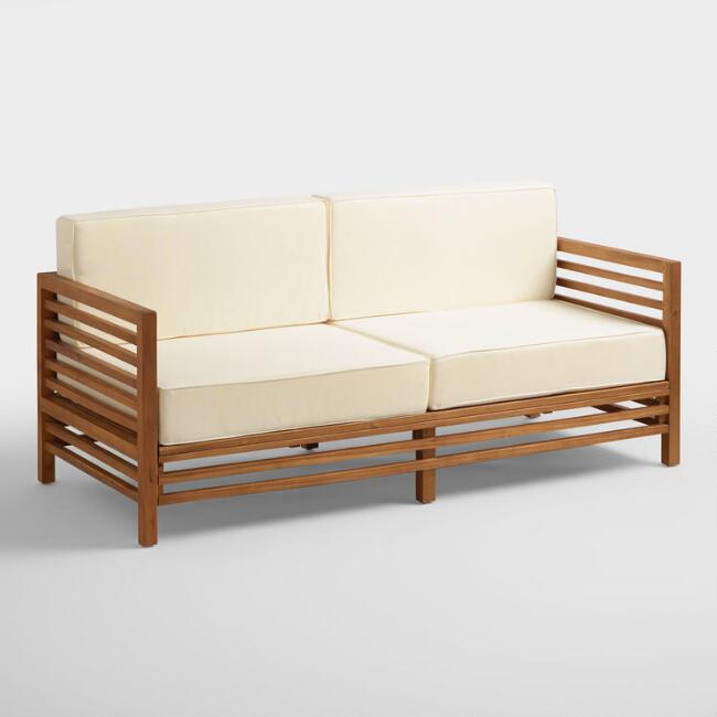 Wood Praiano Outdoor Occasional Bench