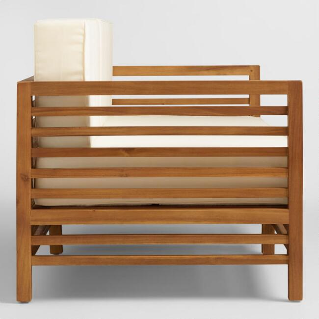 . Wood Praiano Outdoor Occasional Bench   World Market