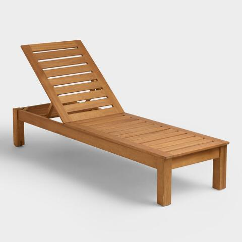 Wood Praiano Outdoor Chaise Lounge
