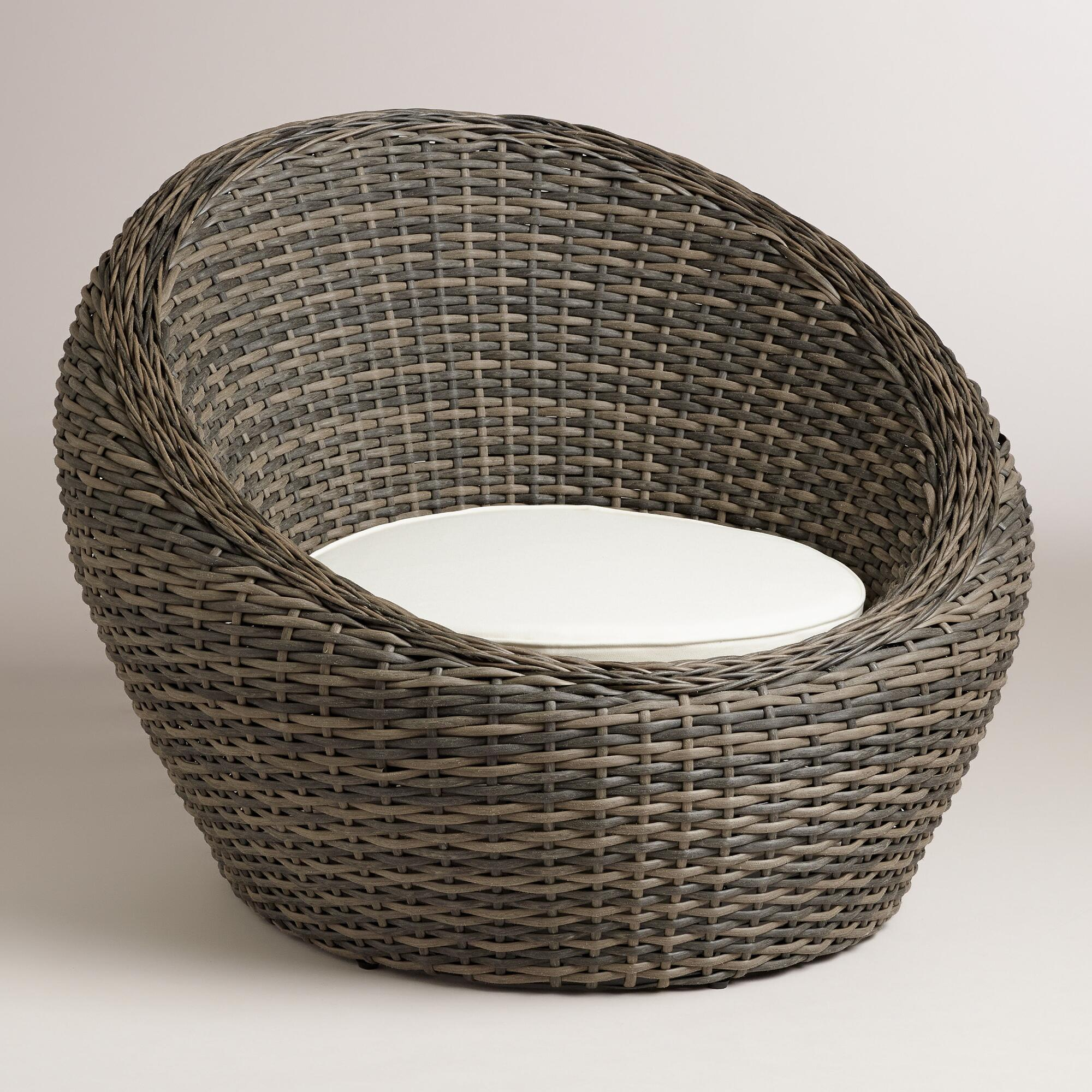 . All Weather Wicker Formentera Egg Outdoor Chair   World Market