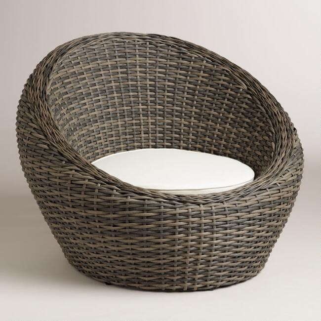 All-Weather Wicker Formentera Egg Outdoor Chair - All-Weather Wicker Formentera Egg Outdoor Chair World Market