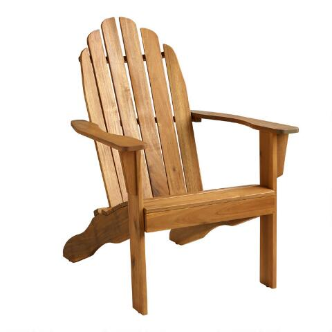 Natural Wood Adirondack Outdoor Chair World Market