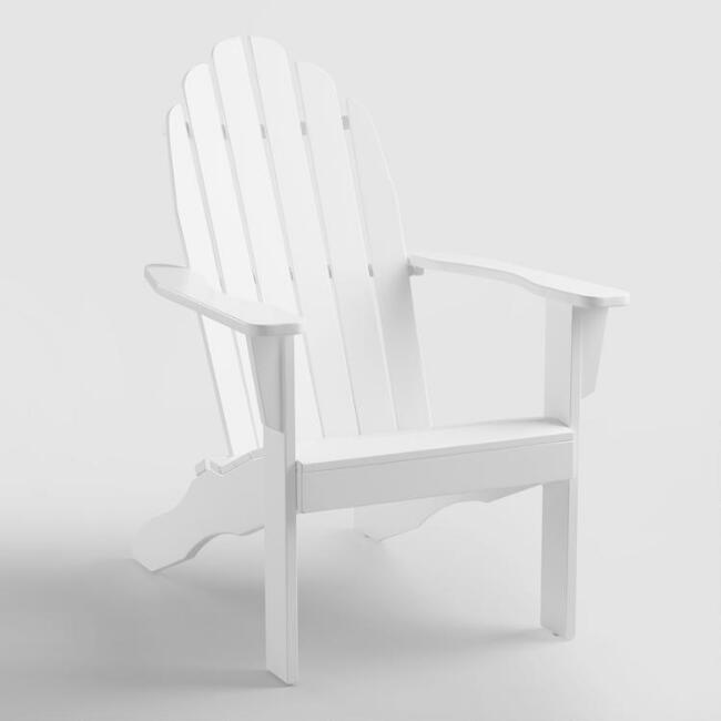 Antique White Adirondack Outdoor Chair