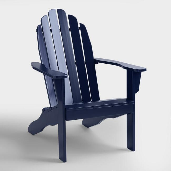 Peacoat Adirondack Chair