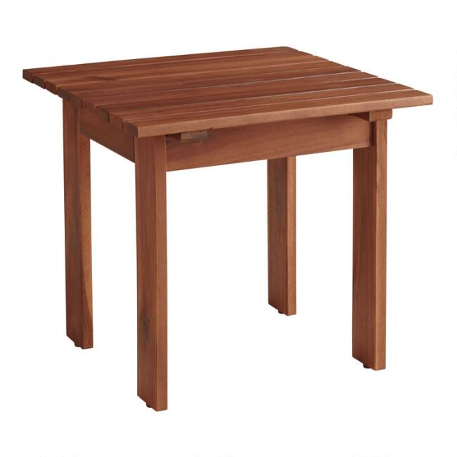 Natural Wood Adirondack Outdoor Side Table