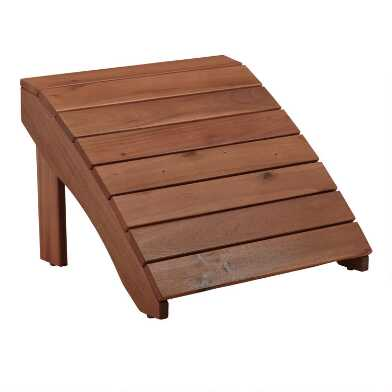 Natural Wood Adirondack Footstool