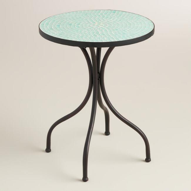 Light Blue Cadiz Accent Table