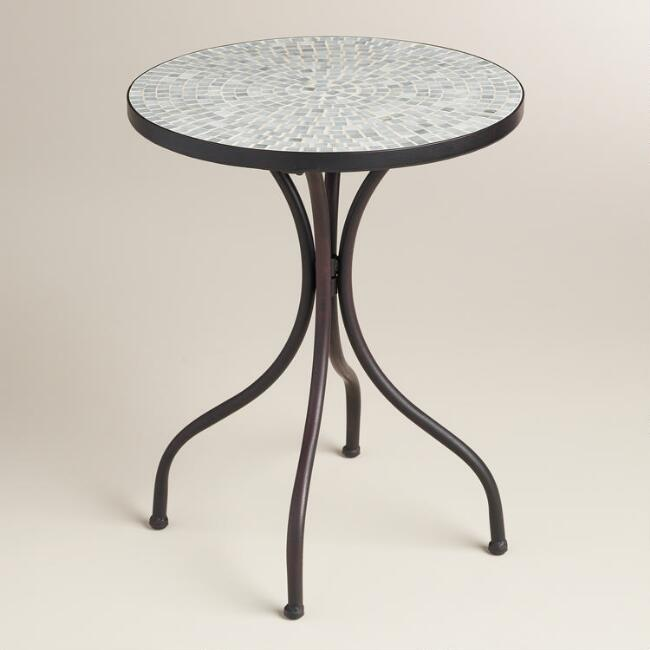 Gray Cadiz Accent Table