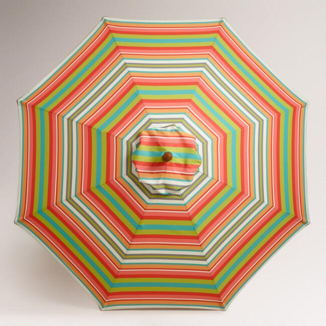 Capri Stripe 9' Umbrella Canopy