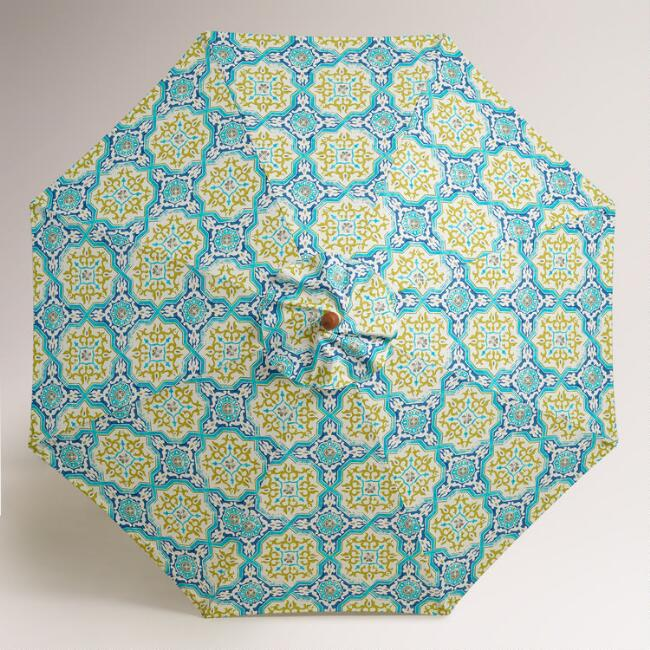 Sufi Tiles 9' Umbrella Canopy