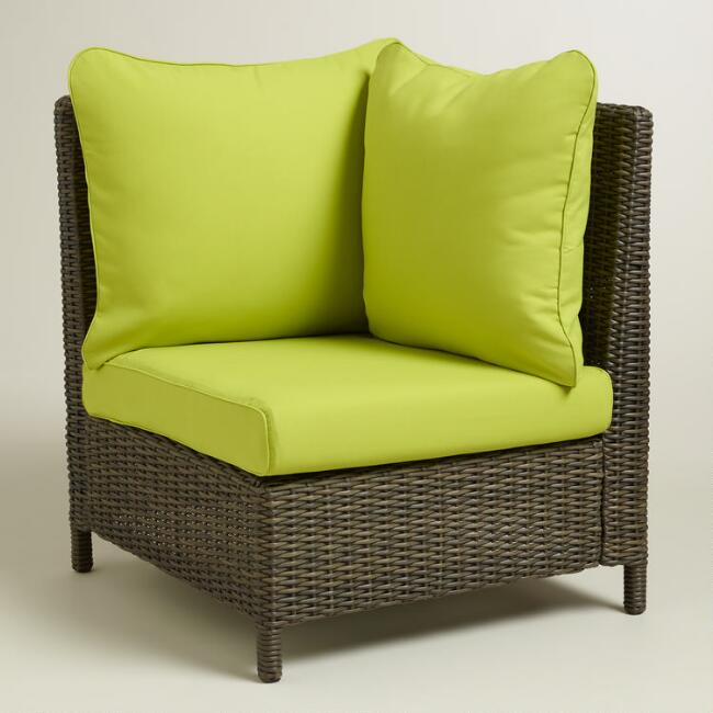 Apple Green Solano Sectional Armchair Slipcover