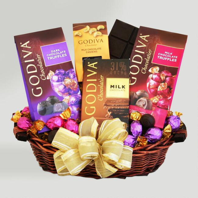 Godiva Chocolate Sampler Valentine Gift Basket