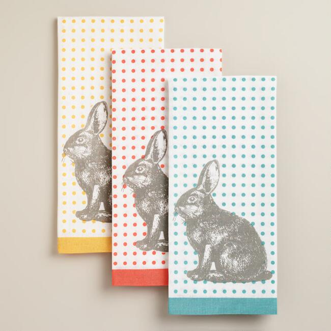 Bunny Kitchen Towels, Set of 3