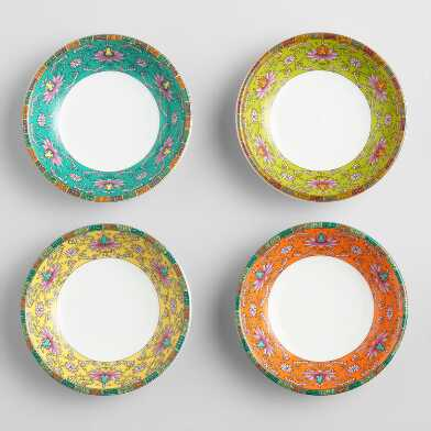 Porcelain Shanghai Dip Bowls Set Of 4