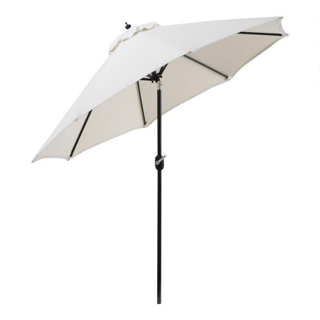 Black Steel 9 Ft Tilting Outdoor Umbrella Frame And Pole