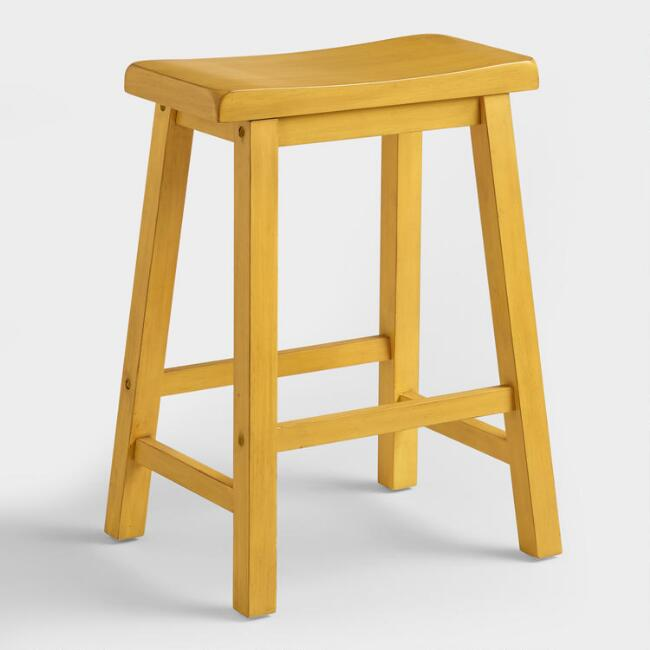 Yellow Schoolhouse Counter Stool