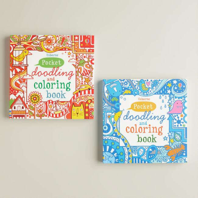 pocket doodling and coloring books set of 2 - Usborne Coloring Books