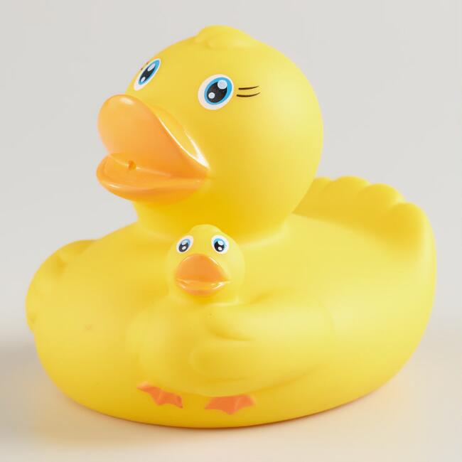 Mama and Baby Rubber Duck Bath Toy