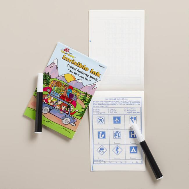 Invisible Ink Travel Activity Books, Set of 2