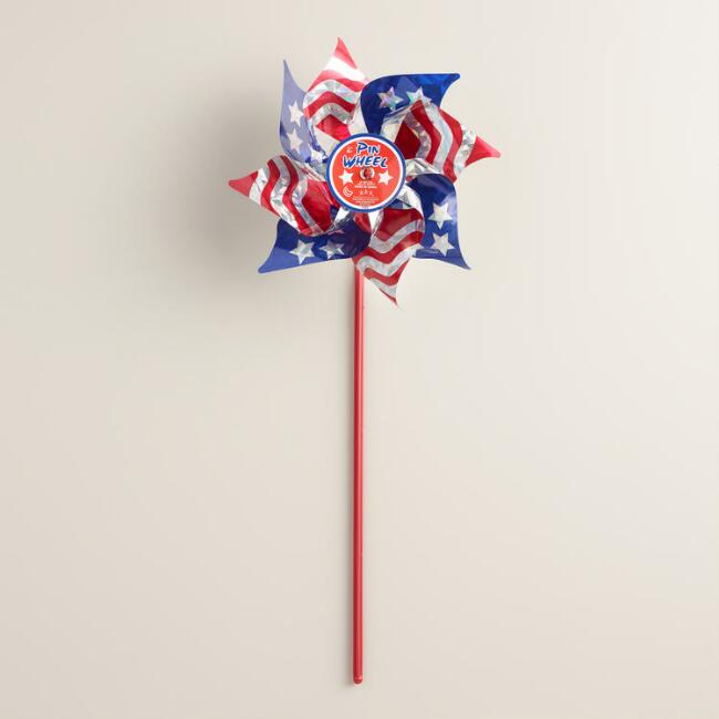 Mylar Flag Pinwheels, Set of 6
