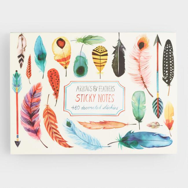 Arrows and Feathers Sticky Notes