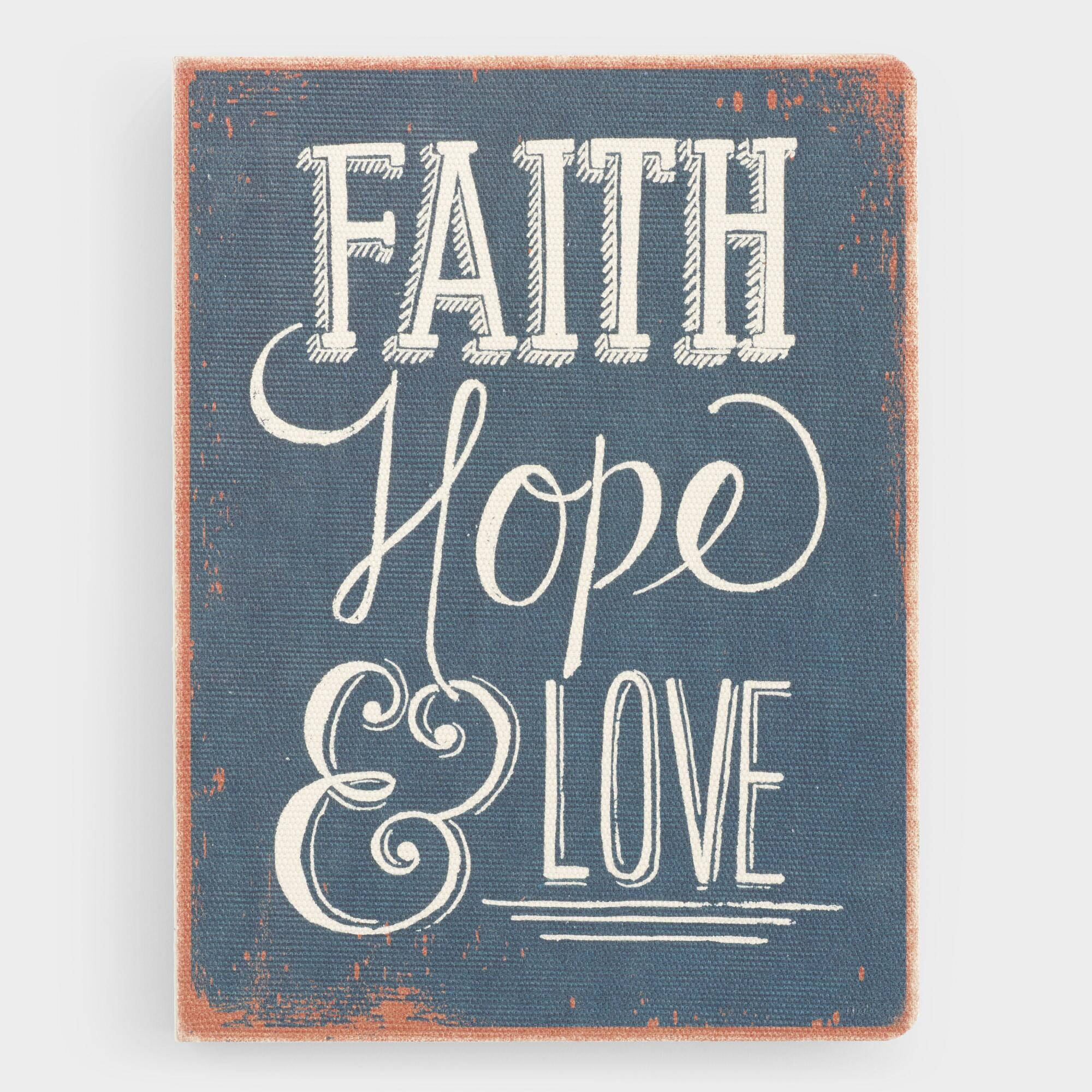Deconstructed Faith, Hope and Love Journal by World Market