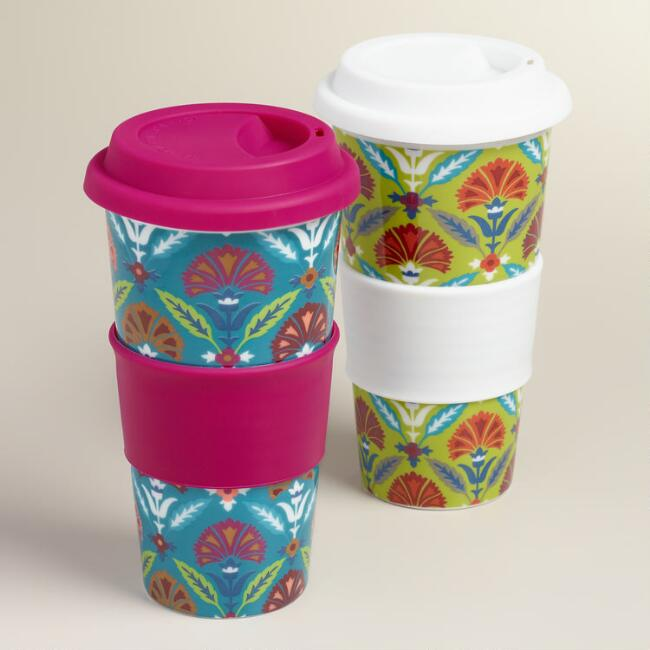 Samantha Ceramic Travel Not-A-Paper Cup, Set of 2
