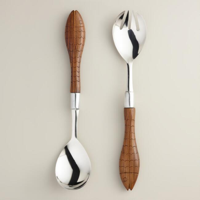 Riviera Fish Serving Spoons, Set of 2