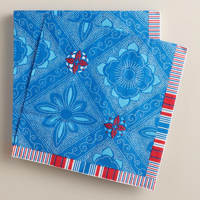 Americana Block Party Lunch Napkins, 16-Count