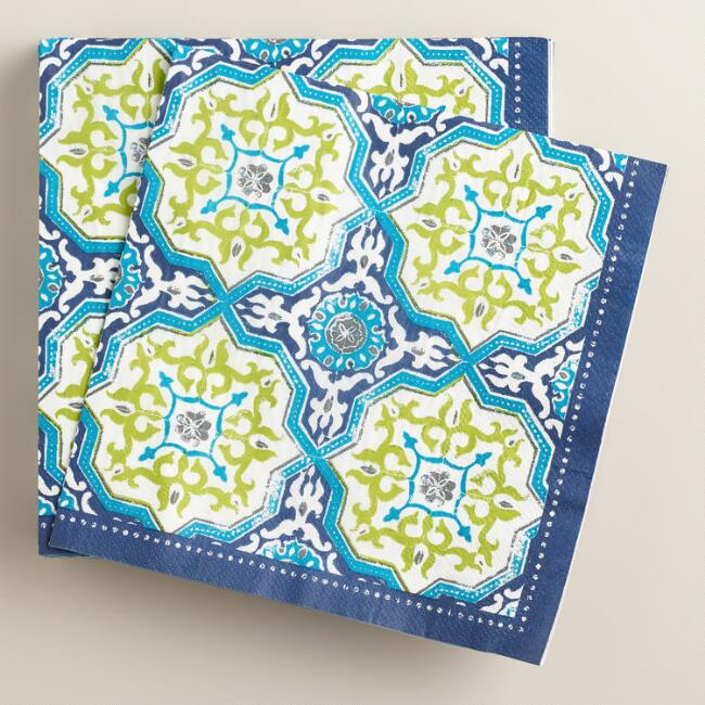 Sufi Tiles Lunch Napkins, 20-Count