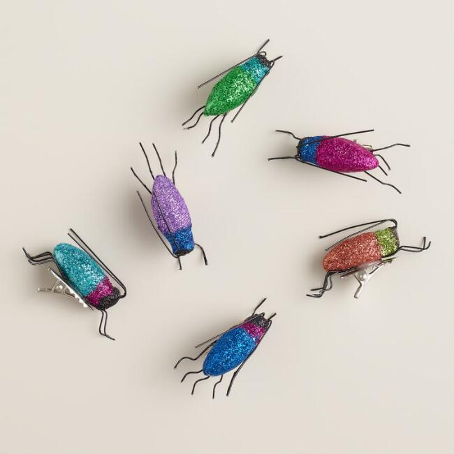 Glitter Beetles Gift Toppers, Set of 6