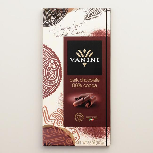 Vanini 86% Cacao Dark Chocolate Bar wish Cocoa Nibs