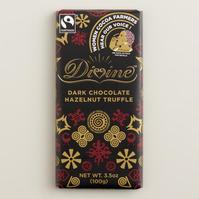 Divine Dark Chocolate Hazelnut Truffle Bar