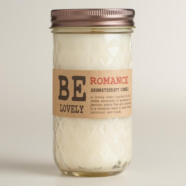 Be Lovely Be Romantic Aromatherapy Jar Candle