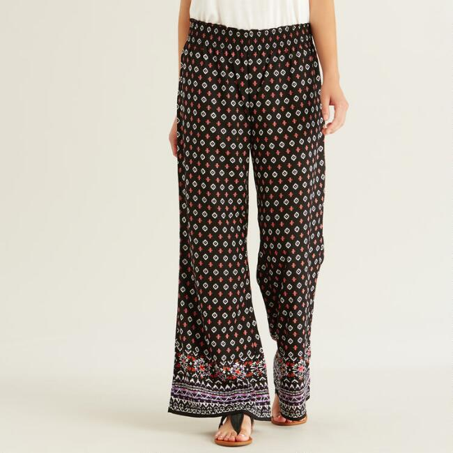 Black and Purple Madison Pants