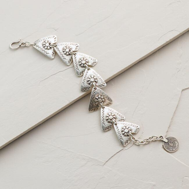 Silver Triangles Bracelet