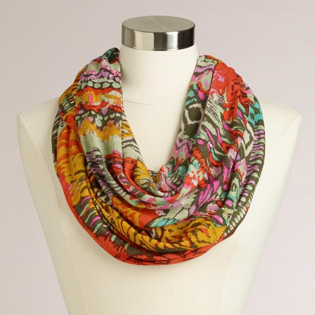 Multicolored Abstract Infinity Scarf