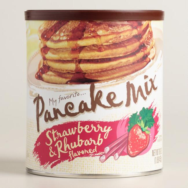 My Favorite Strawberry Rhubarb Pancake Mix
