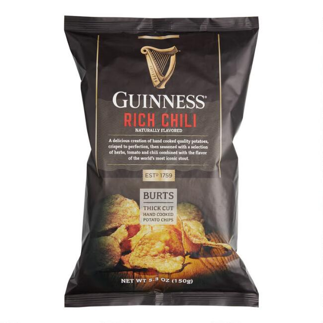 Burts Thick Cut Guinness Rich Chili Potato Chips Set of 10