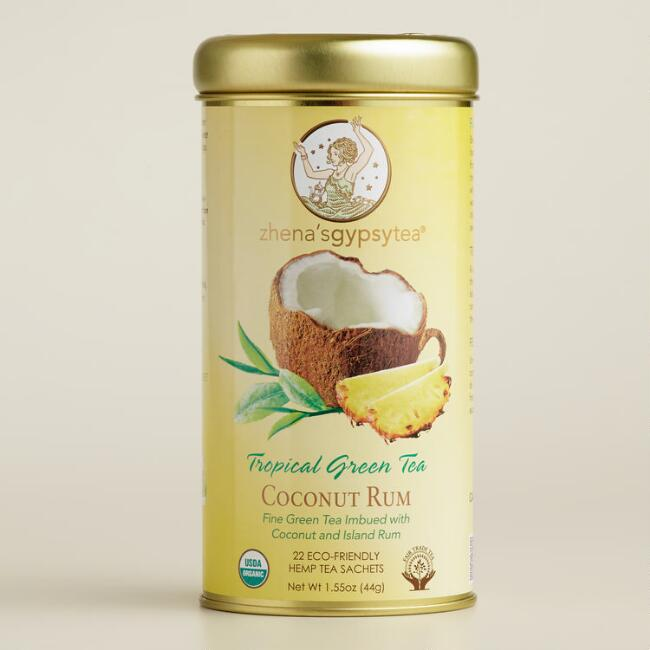 Zhena's Tropical Coconut Rum Green Tea Tin